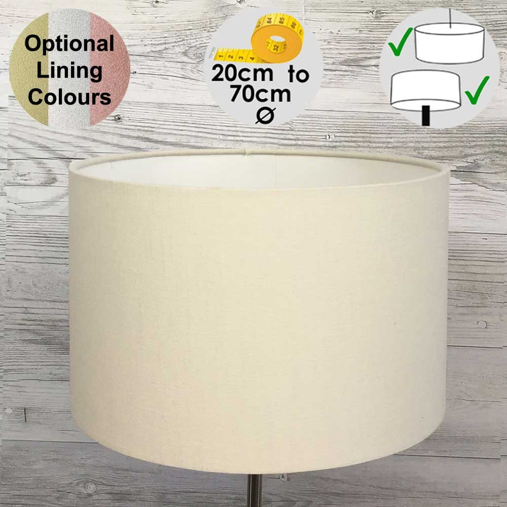 Aura Ivory Drum Table Lampshade
